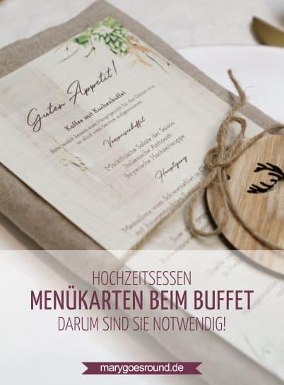 Hochzeitsessen: Menükarten beim Buffet - Darum solltet ihr nicht darauf verzichten! | marygoesround.de