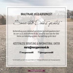 Brautpaar-Aktion 2019, marygoesround.de