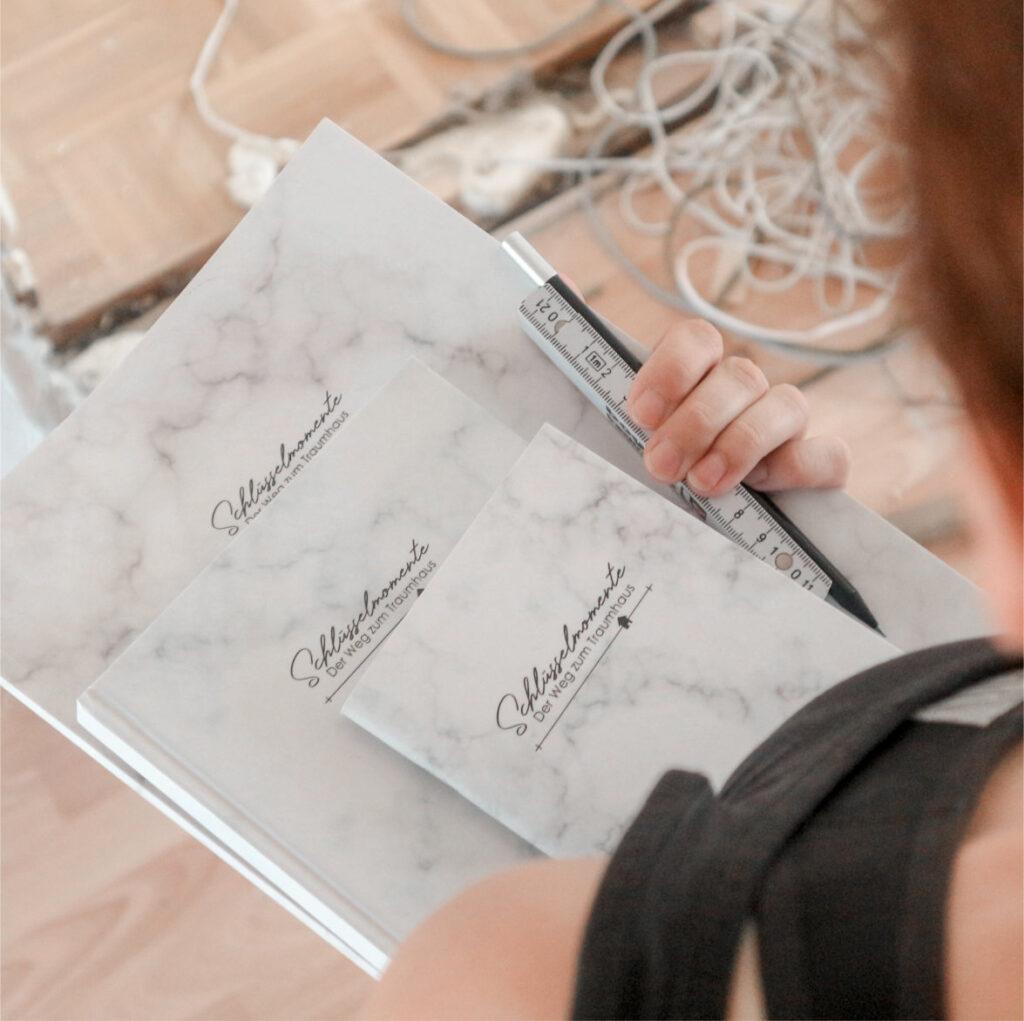 Geschenkset für Bauherrinnen: Bautagebuch für den Hausbau