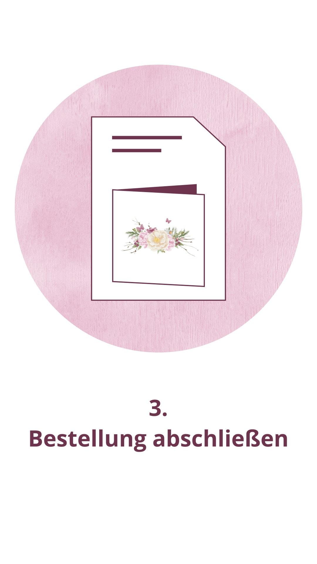Bestellablauf, Schritt 3: Hochzeitspapeterie im Onlineshop | marygoesround®