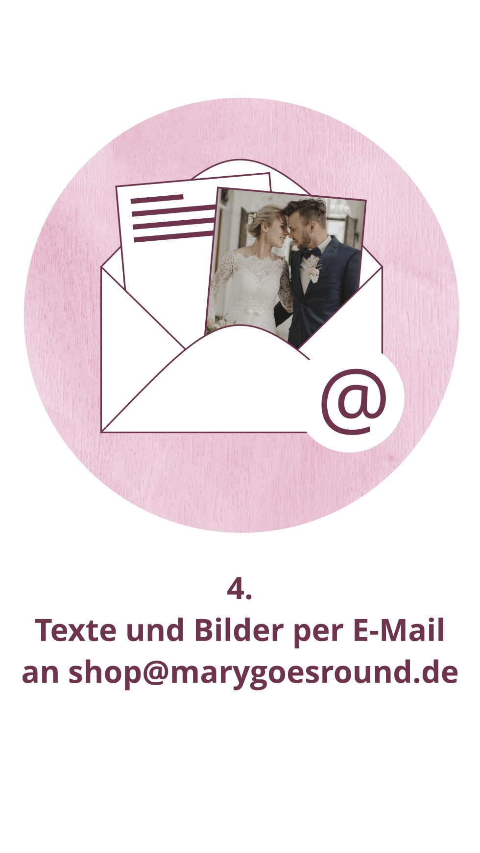 Bestellablauf, Schritt 4: Hochzeitspapeterie im Onlineshop | marygoesround®