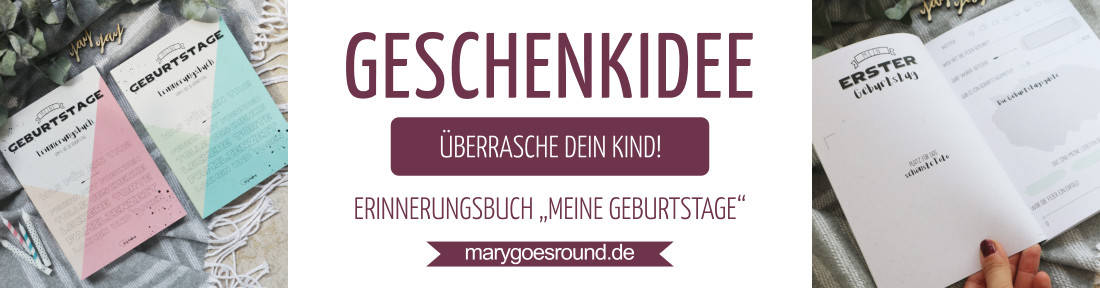 """Geschenkidee zum Kindergeburtstag: Erinnerungsbuch """"Meine Geburtstage"""""""