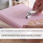 Blogserie: Tagebuchschreiben zur Gewohnheit - Teil 2 | marygoesround®