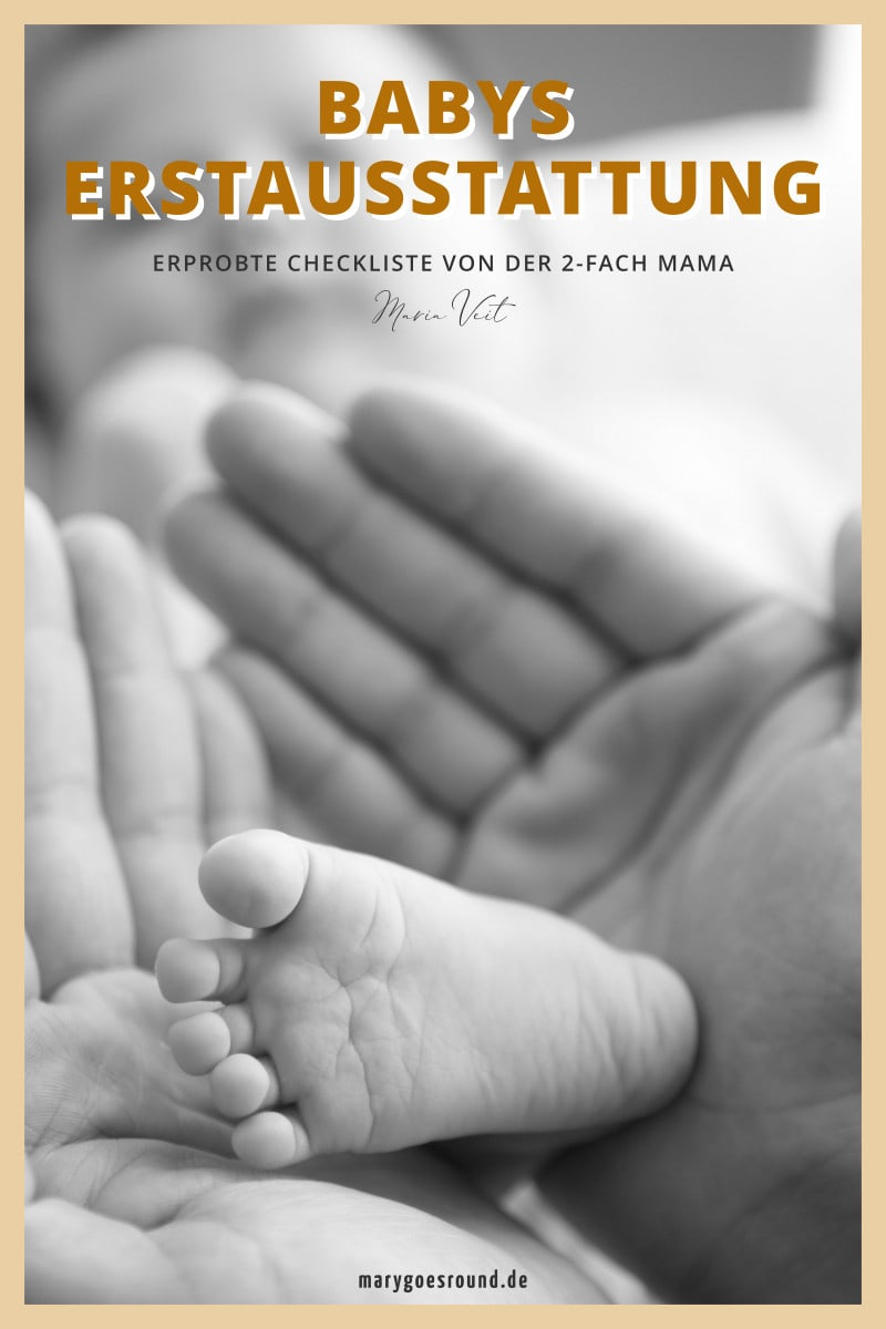 Download: Checkliste für Babys Erstausstattung | marygoesround®