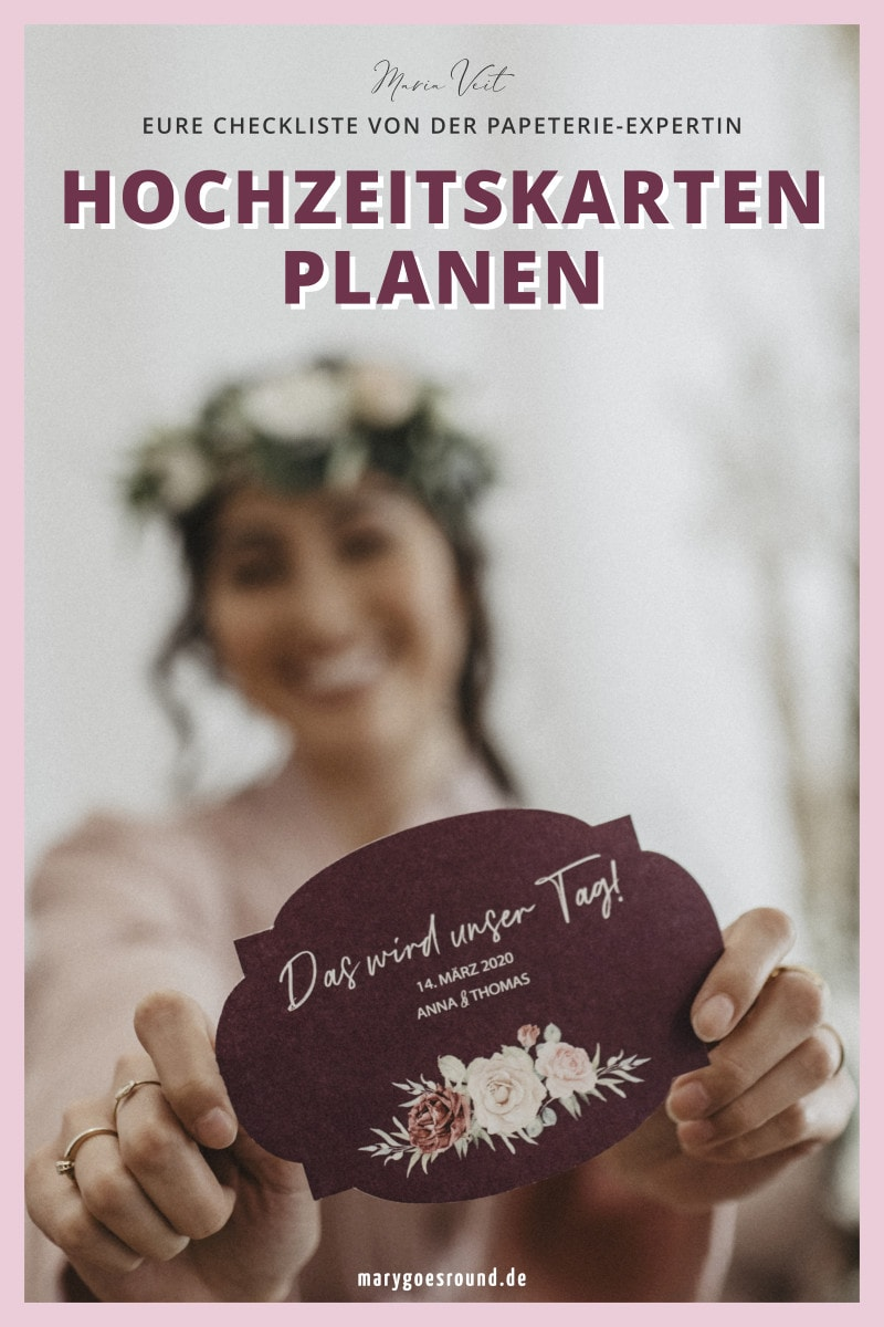 Download: Planung der Hochzeitspapeterie | marygoesround®