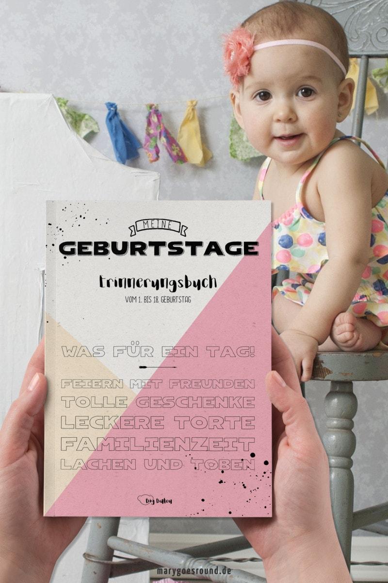 Erinnerungsbuch für Kindergeburtstage, Geburtstagebuch | marygoesround®