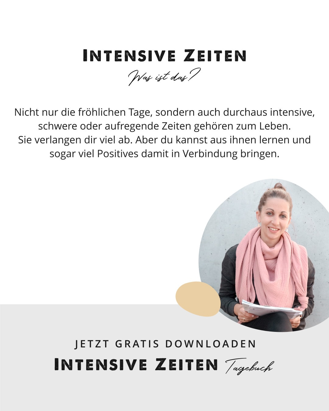 Freebie: INTENSIVE ZEITEN Tagebuch