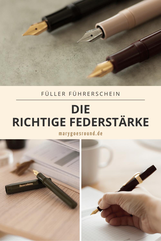 Tipps für die richtige Füller Federstärke für Kinder und Schreibanfänger zum Füllerführerschein