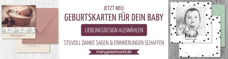 Besondere Geburtskarten im Onlineshop | marygoesround.de