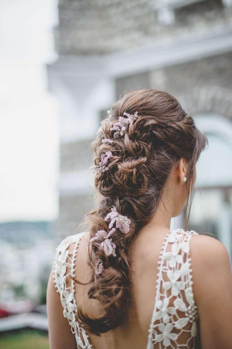 Hochzeitsinspiration: Elegant Olive (Brautfrisur) | marygoesround.de