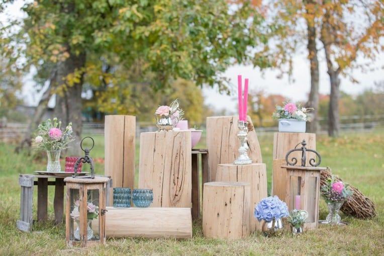 Hochzeitsinspiration: Boho-Backyard-Wedding / romantische Gartenhochzeit, Hochzeitsdekoration Boho / Vintage | marygoesround.de