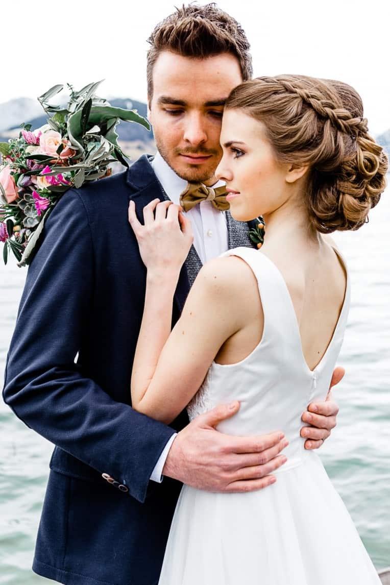 Hochzeitsinspiration: Frühlingserwachen am Tegernsee (Brautfrisur) | marygoesround.de