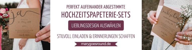 Hochzeitspapeterie-Sets im Onlineshop | marygoesround.de