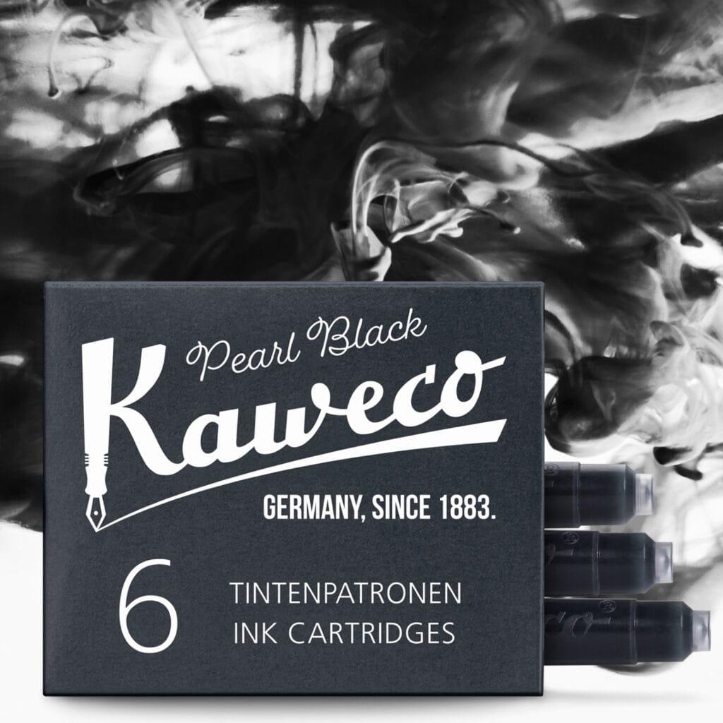 Tintenpatronen Kaweco, perlenschwarz