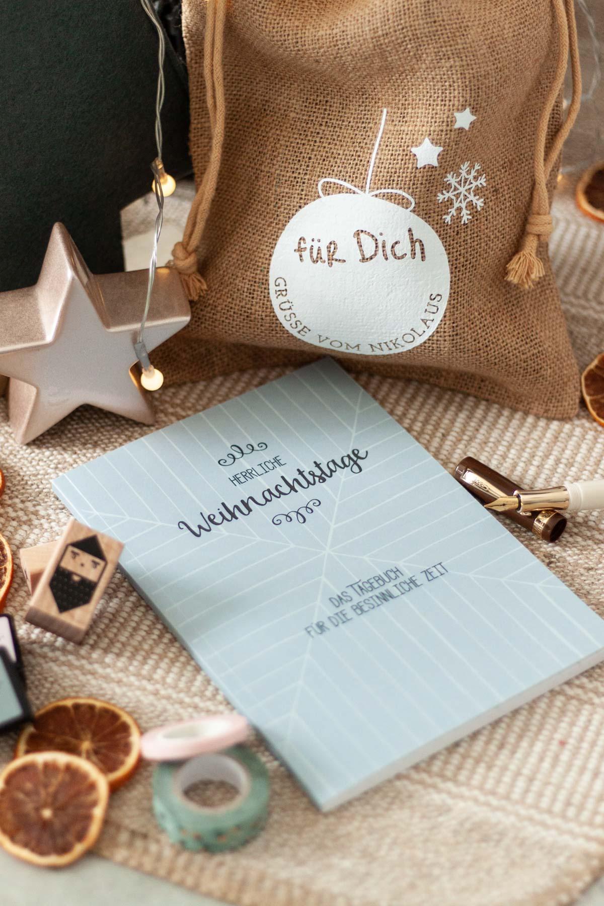 Weihnachtstagebuch zum Basteln und Gestalten