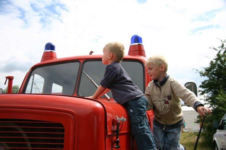 Motto für den Kindergeburtstag: Feuerwehr